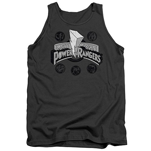 Power Rangers - - Power Coins pour hommes Tank Top, Small, Charcoal