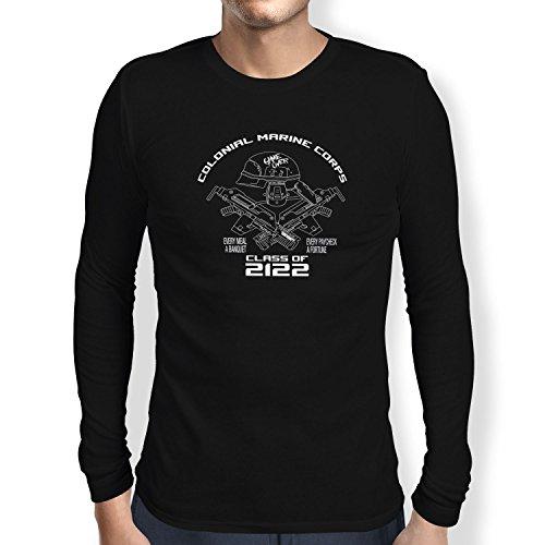 TEXLAB - Colonial Marine Corp Class of 2122 - Herren Langarm T-Shirt Schwarz