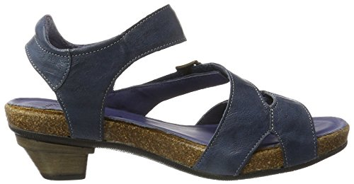 Think! Jomai, Sandales Bout Ouvert Femme Bleu (Saphir/Kombi 90)