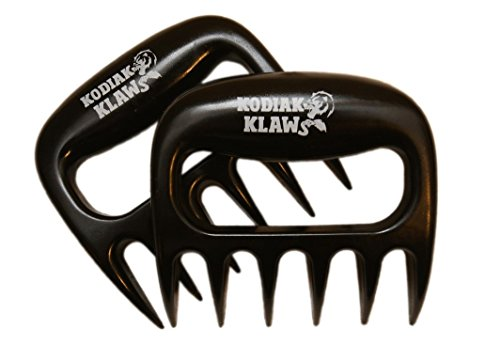 Original KODIAK KLAWS Pulled Pork Shredder Claws: Best Selling, Superior, Dynamic, Perfect, Strong, Heat Resistant, Indoor, Outdoor, BPA Free, Carving, Pulling, Smoking, Shred, Slow, Chef, Barbecue, Seasoned, BBQ, Smoker, Mixer, Bear, Meat, Handler, Fork, Gift, Accessories, Home, Kitchen, Tool, Charcoal, Supplies, Grill, Spaghetti, Salad, Gloves, Set of 2, Pair, Cook, Stove, Needs, Turner, Oven Mitts, Food, Paws, Master, Easily Cleaned, Non-Stick, Welded, FDA Approved