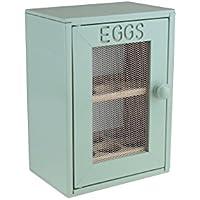 Armario de madera Apollo para huevos, menta/verde