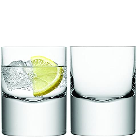 LSA International Boris Lot de 2 verres à whisky Transparent