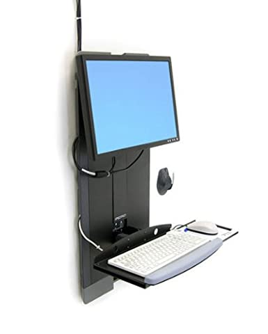 Ergotron StyleView Vertical Lift Workstation for High Traffic Areas - Black