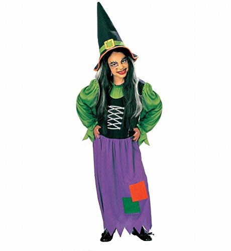 Widmann 38578 - Kinderkostüm Hexe, Kleid und Hut, Größe (Halloween 13 Jährigen Kostüm Ideen)