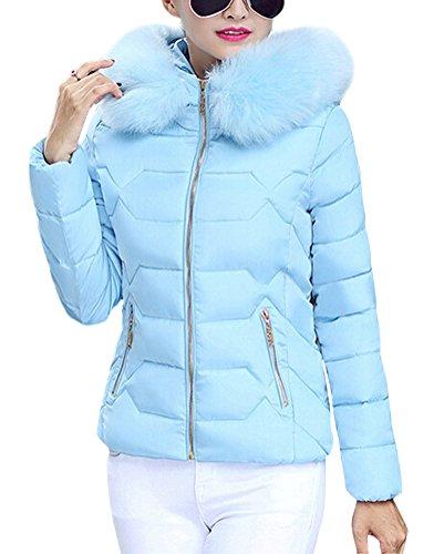 Winterjacke blau lang