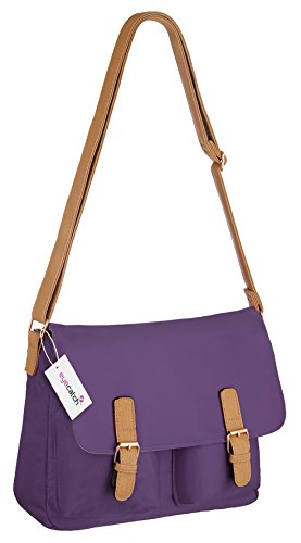 London Frauen Schultertasche Handtasche Damen Satchel Purple