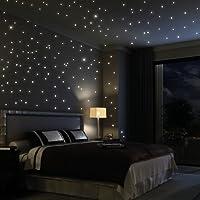 Wandtattoo Loft Sternenhimmel 203 Fluoreszierende Leuchtpunkte (inkl. 3  Leuchtsternen) U2013 Fluoreszierend Selbstklebend