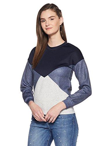 Elle Women's Sweatshirt (EESS0048_NAVY_L)