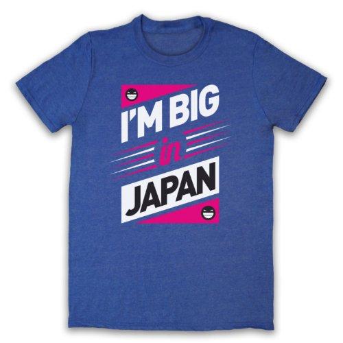 I'm Big In Japan Hipster Slogan Herren T-Shirt Jahrgang Blau