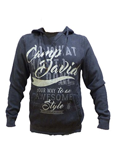 CAMP DAVID SWEATSHIRT STEELWORKERS RAW OIL WITH HOOD S M L XL XXL (S)