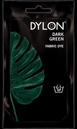 2 x Dylon couleur Vert foncé 50 g Teinture pour tissu Lavable à la main