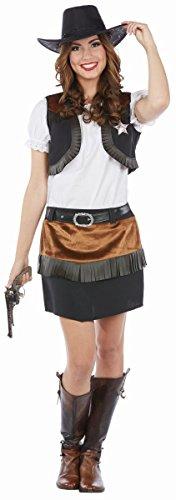 Rubie's Damen Kostüm Wild West Cowgirl Western Lady Karneval ()