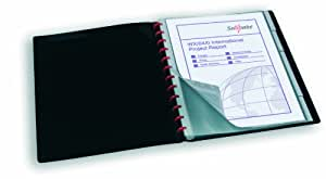 Snopake 12300 Reorganiser A4 Display Book with 40 Pockets - Black (1 Piece)