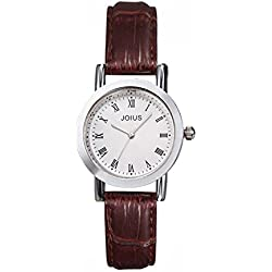 Student casual leather strap watch/Fashion quartz watch/Simple casual watches-A