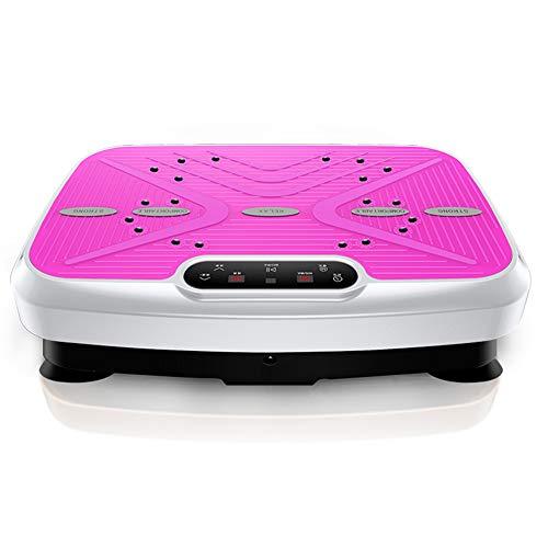 HY Placa de vibración de Fitness   Masaje Fitness Fitness Machine   Máquina de vibración   Plataforma vibratoria   La Mejor Power Shaper Power Plate con Control Remoto y Correas de Equilibrio