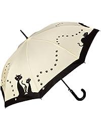 """VON LILIENFELD Paraguas automático con motivo """"Gatos negros"""""""