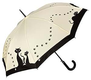 """VON LILIENFELD Parapluie automatique à motif """"Chats noirs"""""""