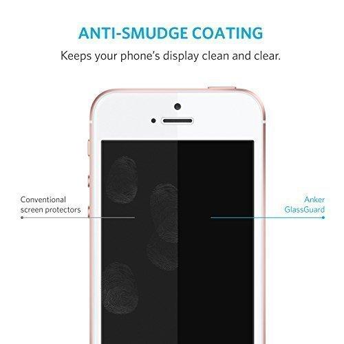Anker Glas Schutzfolie für Apple iPhone SE / iPhone 5S / iPhone 5C / iPhone 5 Premium Klar Anti-Kratz-Screen Protector Displayschutz - 9H Hardness aus gehärtetem Glas - 4