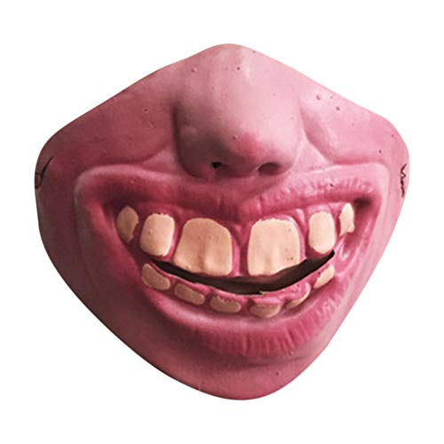 Hffan Halloween Maske Hund Komisch Lustige Große Lippen Kopfbedeckung Maske Haustier Lustige Maske Party Kostüm Cosplay Karneval Gesichtsmaske Kopfmask (Kind Papst Kostüm)