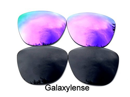 0349a8cb992 Galaxylense Replacement Lenses for Oakley Frogskins Purple Black Color  Polarized 2 Pairs - Purple Black - Buy Online in Oman.