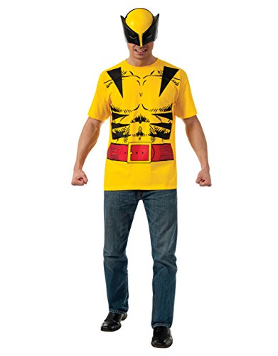 Wolverine Shirt Accessory Kit, Herren Marvel Comics Outfit, groß, Brust (Wolverine Outfit)