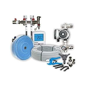2 Room Wet/Water Underfloor Heating Kit 30sqm Dual-Zone, 2 zone, Heatmiser, Grundfoss & Rifeng products, 50 year Guarantee
