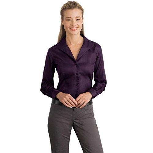 Red House Ladies Herringbone Non Iron Button Down Shirt. Small Bermuda Pu...