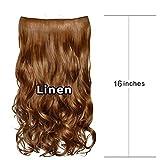 QINPIN 1 stück 5 Clip Mode in haarverlängerungen lockige hübsche Frau mädchen lockige perücke Haar