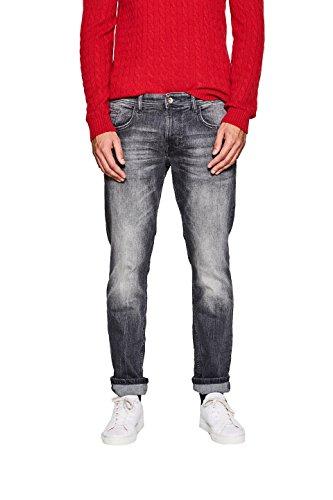ESPRIT Herren Slim Slim Jeans 127EE2B047, Grau (Grey Dark Wash 921), W32/L32 (Dark Jeans Slim Herren Denim)