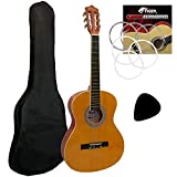 Tiger CLG2 3/4 Size Classical Spanish Guitar Beginners Complete Starter Kit for Ages
