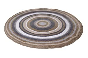 Meusch 2253271521 Badteppich Mandala, 100 cm rund, taupe