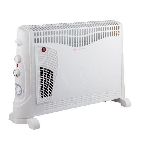 41pbTcmGFpL. SS500  - Daewoo 2000W Convector Heater with Turbo Function - 3 Heat Settings, Portable Carry Handle, Adjustable Thermostat & Timer with Fan Setting - White