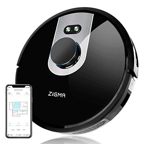 Zigma Spark Saugroboter, Staubsauger Roboter mit Wischfunktion (mit Wassertank), LDS Navigation und APP-Steuerung, staubsauger Roboter mit Kartenspeicherung für Tierhaare
