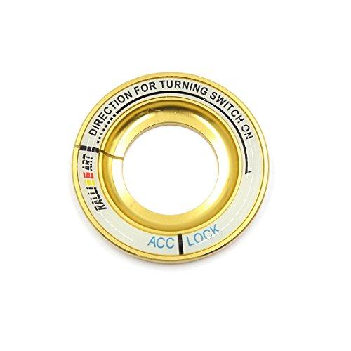 sourcingmap Leuchtender Motor Start Stop Schalter Knopf Dekorativer Ring