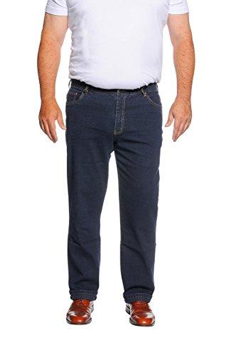 Herren 5-Pocket Jeans (66, Dunkelblau) in den Größen 60, 62, 64, 66, 68, 70, XL, XXL, 3XL, 4XL, 5XL, Große Größen, Übergröße, Big Size, Plus Size,