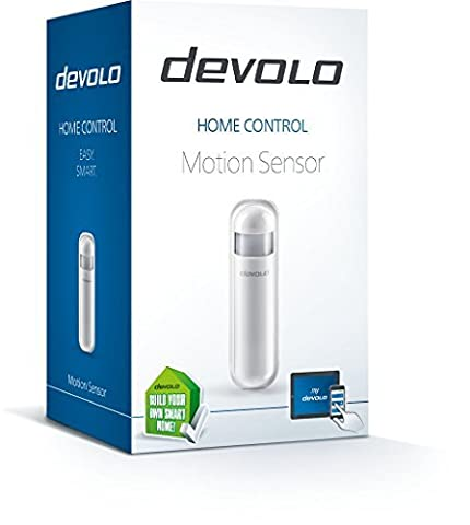 devolo Home Control Motion Sensor (Home Automation via iOS/Android App, Smart Home Device, Motion Detector, Infrared Sensor, Z Wave) - White by Devolo