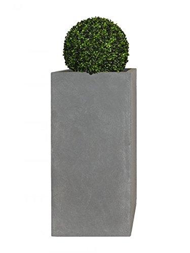 PFLANZWERK® Pflanzkübel Fiberglas XXL TOWER Grau 100x50x50cm *Frostbeständiger Blumenkübel* *UV-Schutz* *Qualitätsware*