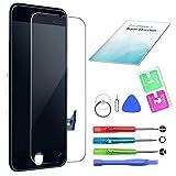 QI-EU Kompatibel mit iPhone 7 Display Schwarz LCD Touchscreen Reparatur Bildschirm mit Komplettes Kostenlose Werkzeuge