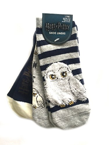 3 Pair Pack Socks shoe liners Harry Potter Owl Ladies Girls UK Size 4-8 Eur 37-42 USA 6-10