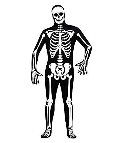 Erwachsene Skin Skelett Suit Kostüm Für - Horror-Shop Skin Suit Skelett