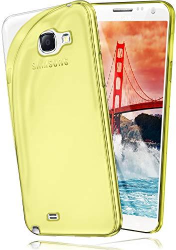 MoEx® Cover Trasparente Compatibile con Samsung Galaxy Note 2 | Anti-Scivolo ed Extra Sottile, Giallo