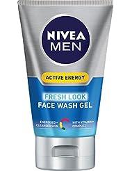 NIVEA MEN Active Energy Fresh Look Face Wash, 100 ml, Pack of 3