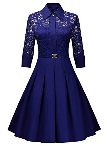 Karm Enterprise Women\'s Western Wear Skater Dress (Royal Blue)