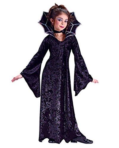 Kostüm Prinzessin Vampir Kind (Spiderella Vampir Prinzessin Mädchenkostüm)
