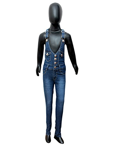 Sunday Casual Dark Blue Girls Denim Dungarees (MGD_Dark-26)