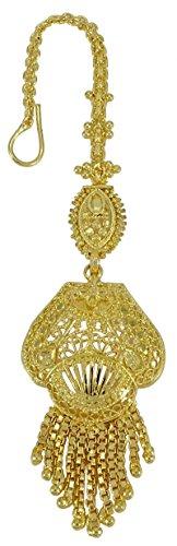 Banithani Traditionelle indische Goldton Designer Maang Tikka Bollywood Stirn - Bollywood Kostüm Verkauf