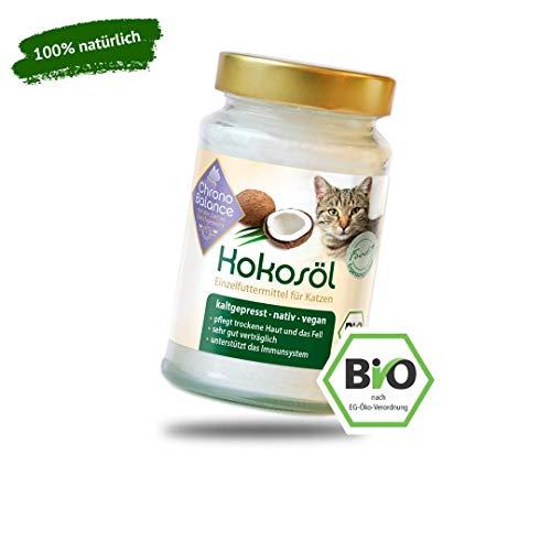 ChronoBalance® Bio Kokosöl für Katzen - natürliche Nahrungsergänzung - für Fellpflege und Hautpflege - vegan (400ml)