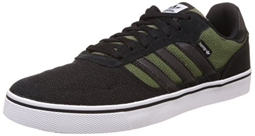 adidas Originals Men's Copa Vulc Green, White and Black Leather Skateboarding Shoes - 11 UK