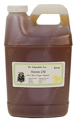 Neem Oil Organic,Pure,Cold Pressed by Dr. Adorable 64 oz/2 Quarters