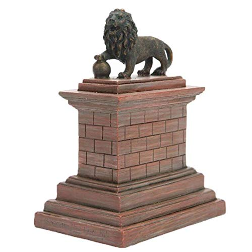 DDCYY Architekturmodell Skulptur, Hauptdekorationen, Belgischer LöWe-Berg, Dekorative Skulptur, Harzhandwerk, Andenkengeschenke (6.2x9.5x11.6cm) (Kunst Verwandte Kostüm)